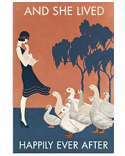 Vintage Girl Lived Happily Duck 11x17 Poster front