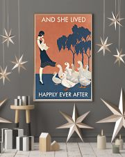 Vintage Girl Lived Happily Duck 11x17 Poster lifestyle-holiday-poster-1