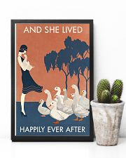 Vintage Girl Lived Happily Duck 11x17 Poster lifestyle-poster-8