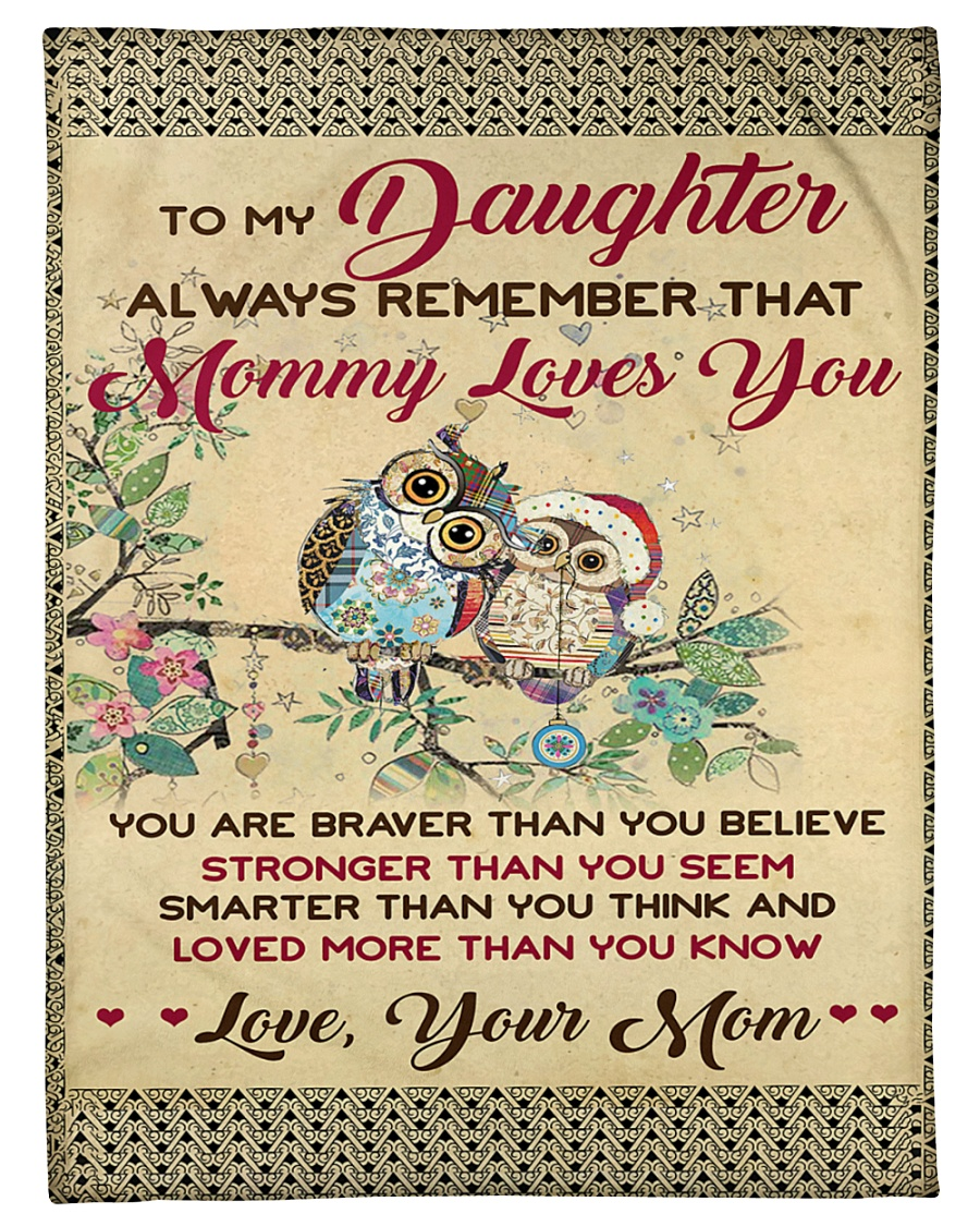 """Mom To Daughter Love More Than You Know Owl Small Fleece Blanket - 30"""" x 40"""""""