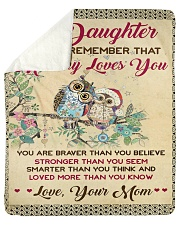 """Mom To Daughter Love More Than You Know Owl Sherpa Fleece Blanket - 50"""" x 60"""" thumbnail"""