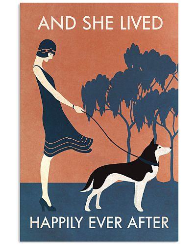 Vintage Girl She Lived Happily Husky