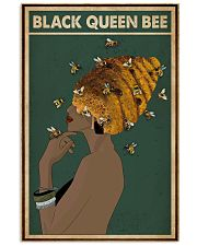 Black Queen Bee Afro Retro Green 16x24 Poster front
