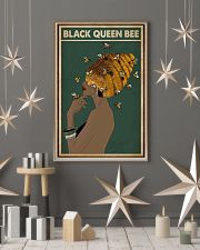 Black Queen Bee Afro Retro Green 16x24 Poster lifestyle-holiday-poster-1