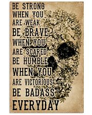 Be Strong When You Are Week Skull Kraft Paper 11x17 Poster front