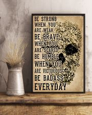 Be Strong When You Are Week Skull Kraft Paper 11x17 Poster lifestyle-poster-3