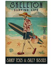 Surfing Life Sandy Toes Skeleton 11x17 Poster front
