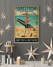 Surfing Life Sandy Toes Skeleton 11x17 Poster lifestyle-holiday-poster-1