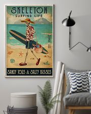 Surfing Life Sandy Toes Skeleton 11x17 Poster lifestyle-poster-1