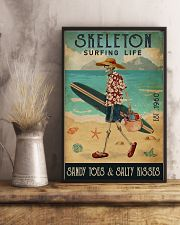 Surfing Life Sandy Toes Skeleton 11x17 Poster lifestyle-poster-3