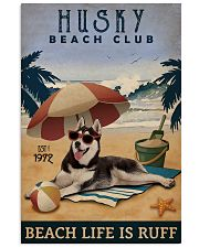 Vintage Beach Club Is Ruff Husky 11x17 Poster front