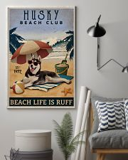 Vintage Beach Club Is Ruff Husky 11x17 Poster lifestyle-poster-1