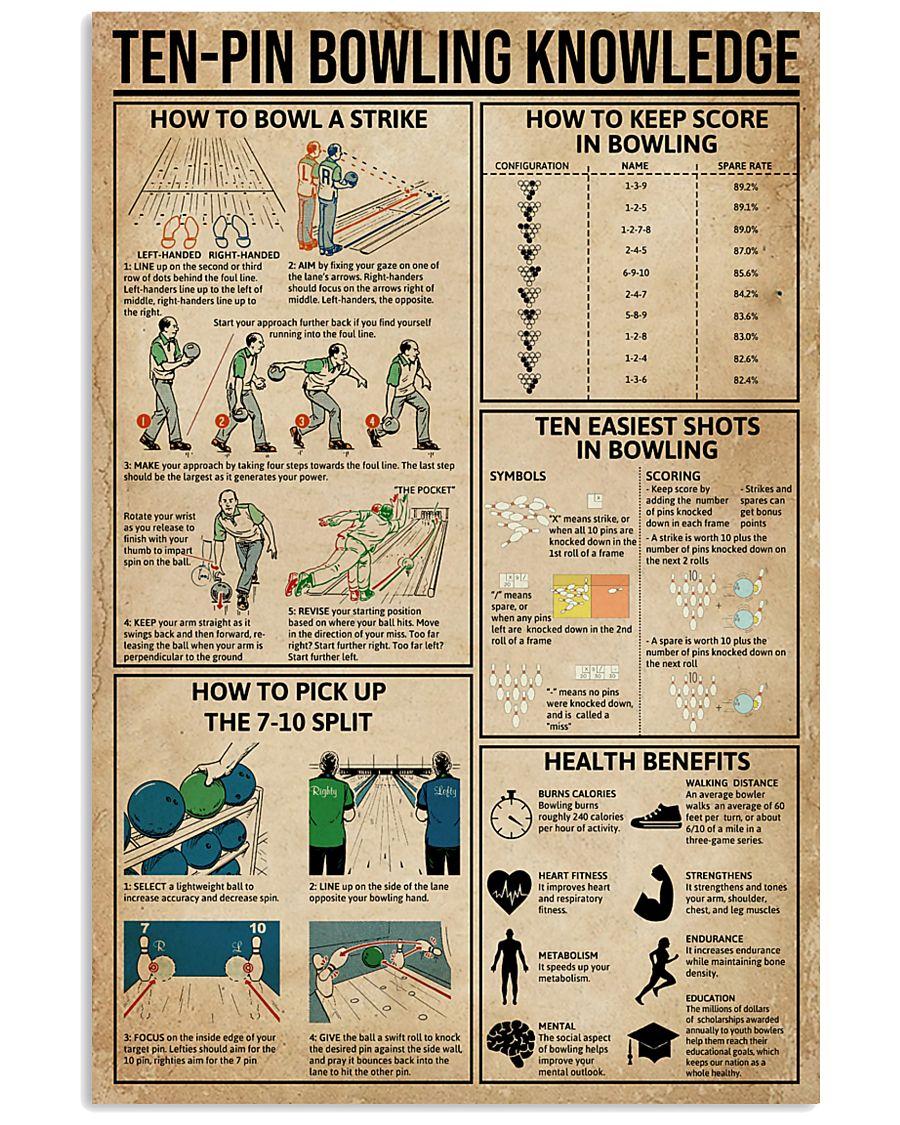 Ten-pin Bowling Knowledge 11x17 Poster