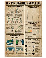 Ten-pin Bowling Knowledge 11x17 Poster front