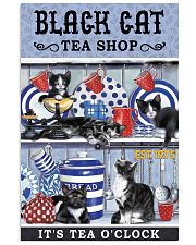Black Cat Tea Shop Cat Lover 11x17 Poster front