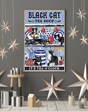Black Cat Tea Shop Cat Lover 11x17 Poster lifestyle-holiday-poster-1