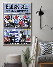 Black Cat Tea Shop Cat Lover 11x17 Poster lifestyle-poster-1