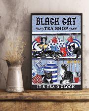 Black Cat Tea Shop Cat Lover 11x17 Poster lifestyle-poster-3