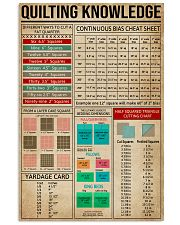 Cheat Sheets Quilting 11x17 Poster front
