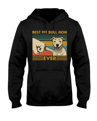 Retro Blue Best Pit Bull Mom Ever