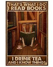 That's What I Do I Read Books Rabbit Tea 16x24 Poster front
