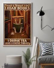 That's What I Do I Read Books Rabbit Tea 16x24 Poster lifestyle-poster-1