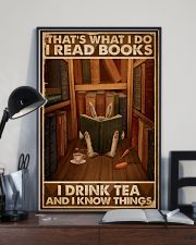 That's What I Do I Read Books Rabbit Tea 16x24 Poster lifestyle-poster-2