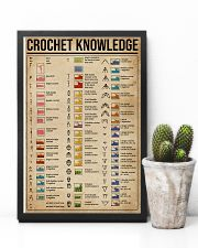 Knowledge Crochet Cheat Sheet 11x17 Poster lifestyle-poster-8