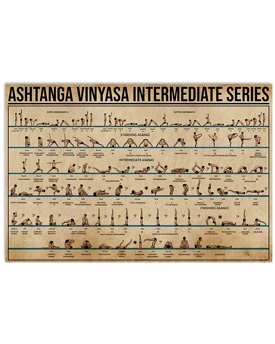 Ashtanga Vinyasa Intermediate Series 17x11 Poster