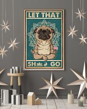 Retro Let That Pug Yoga 11x17 Poster lifestyle-holiday-poster-1