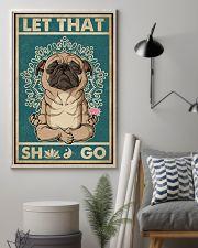 Retro Let That Pug Yoga 11x17 Poster lifestyle-poster-1