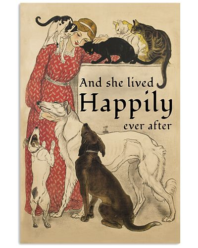 She Lived Happily Dogs And Cats