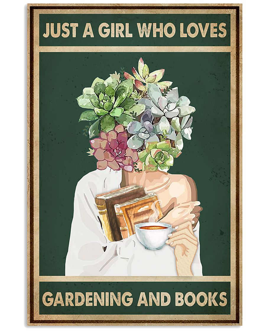 Just A Girl Who Loves Books Tea Garden 11x17 Poster