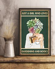 Just A Girl Who Loves Books Tea Garden 11x17 Poster lifestyle-poster-3