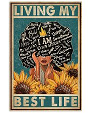 Retro Living My Best Life Black 11x17 Poster front