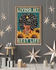 Retro Living My Best Life Black 11x17 Poster lifestyle-holiday-poster-1