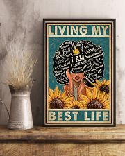 Retro Living My Best Life Black 11x17 Poster lifestyle-poster-3