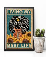 Retro Living My Best Life Black 11x17 Poster lifestyle-poster-8