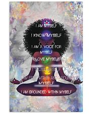 I Am Myself Black Girl Yoga 11x17 Poster front