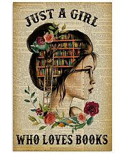 Just A Girl Who Loves Books Reading Paper 16x24 Poster front