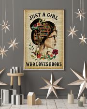 Just A Girl Who Loves Books Reading Paper 16x24 Poster lifestyle-holiday-poster-1