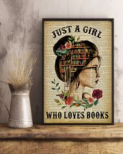 Just A Girl Who Loves Books Reading Paper 16x24 Poster lifestyle-poster-3