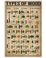 Types Of Wood Carpentry 16x24 Poster front