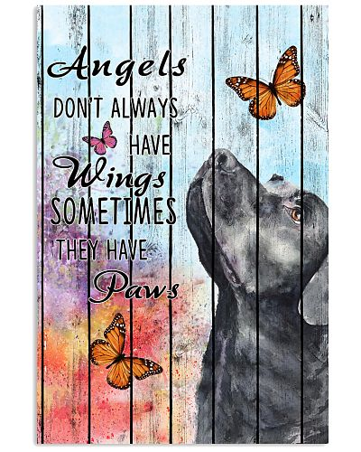 Labrador Pallet Painting Angels Sometimes