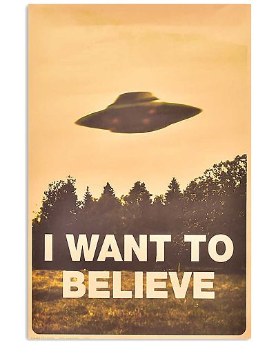Retro Classic I Want To Believe Alien