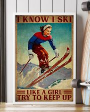 I Know I Ski Like A Girl 16x24 Poster lifestyle-poster-4