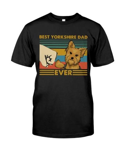 Retro Blue Best Yorkshire Terrier Dad Ever