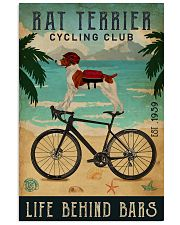 Cycling Club Rat Terrier 11x17 Poster front