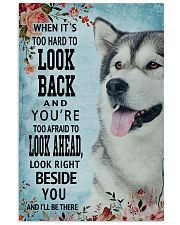 Classic Blue Alaskan Malamute Right Beside You 11x17 Poster front