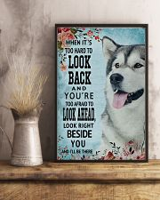 Classic Blue Alaskan Malamute Right Beside You 11x17 Poster lifestyle-poster-3
